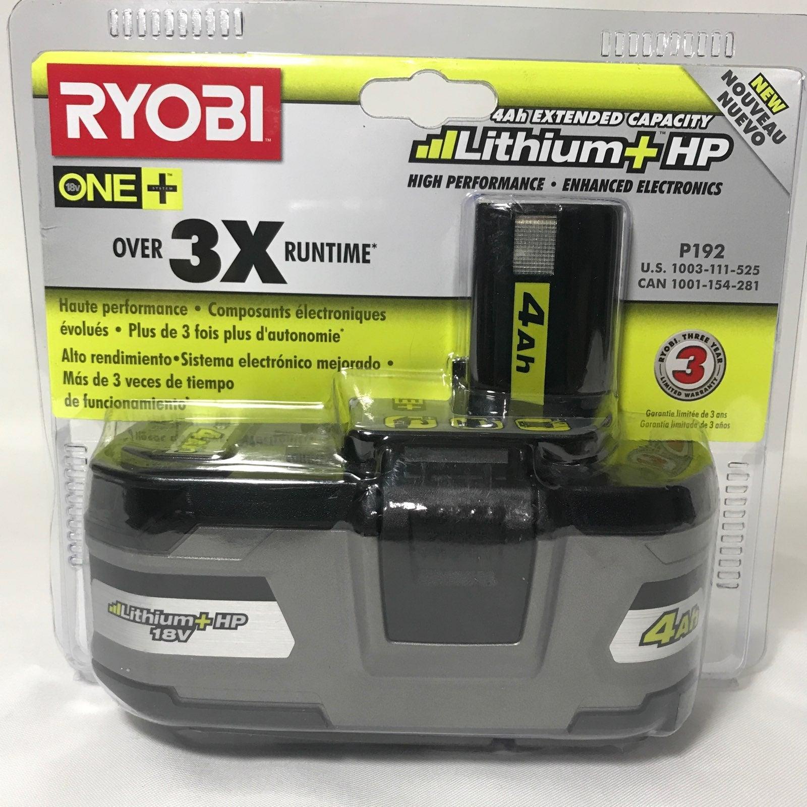 NEW Ryobi One Lithium+HP Battery
