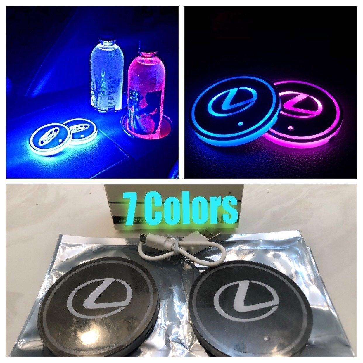 2 pc LED cup holder lights fits Lexus