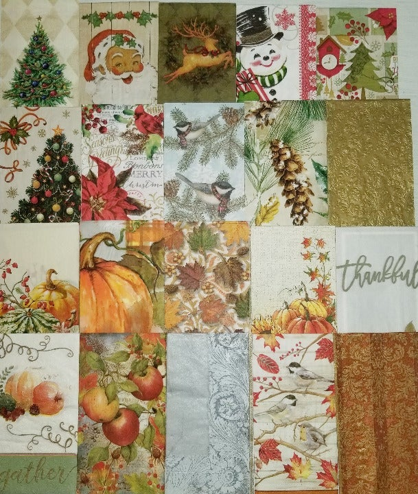 Holiday Napkin Design Junk Journal Craft