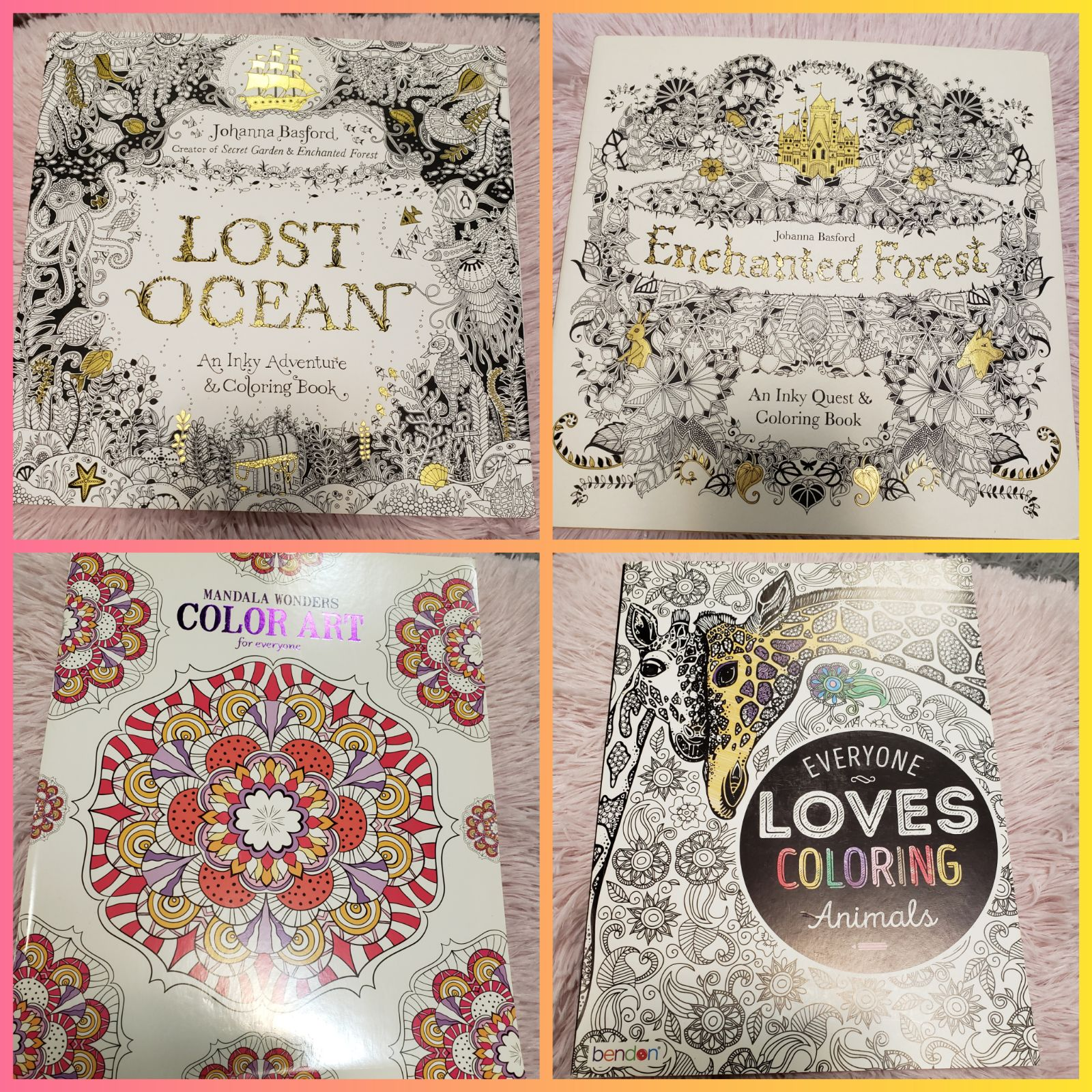 Lot of 4 Adult Coloring Books