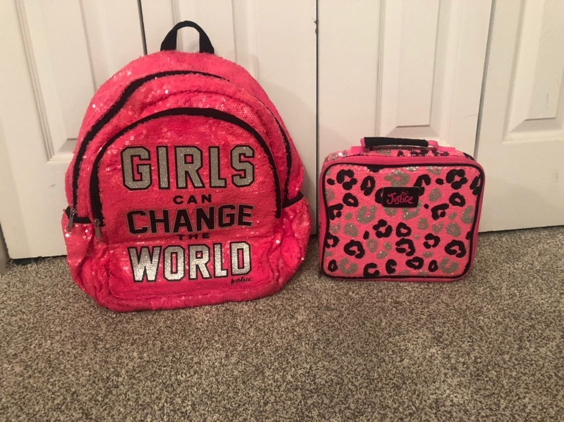 Justice backpack and lunch box
