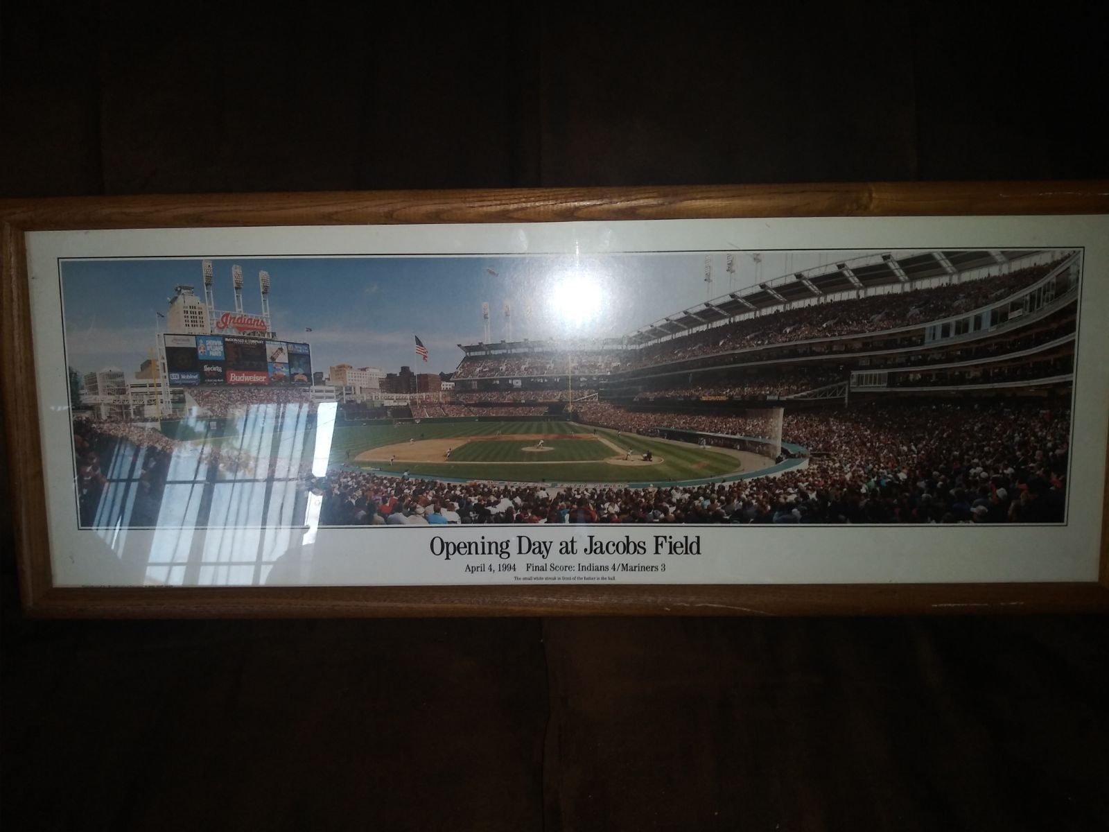 Framed Cleveland Indians / First Pitch