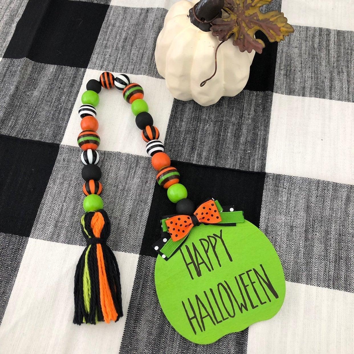 Farmhouse Halloween Bead Garland Decor