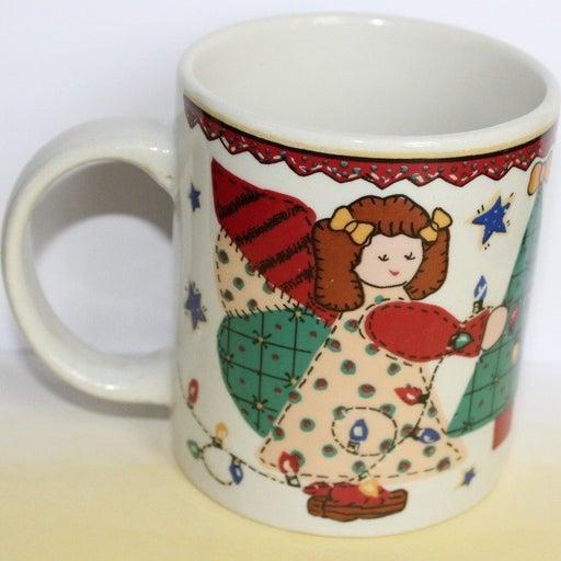 Vintage Christmas Coffee Mug Cup Angels