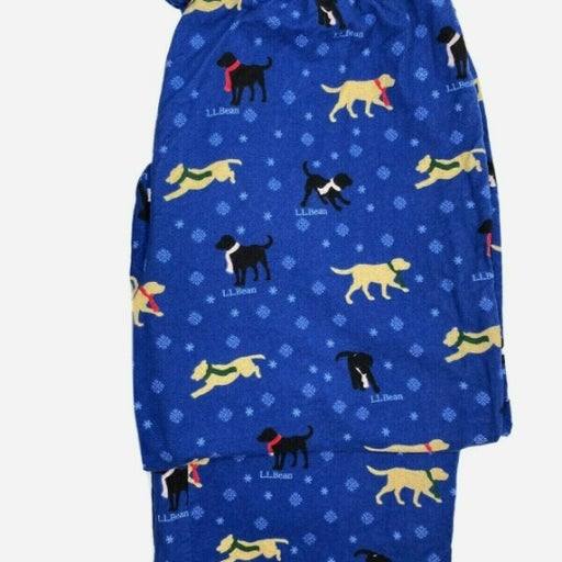 LL Bean Flannel Lounge Pants Labrador