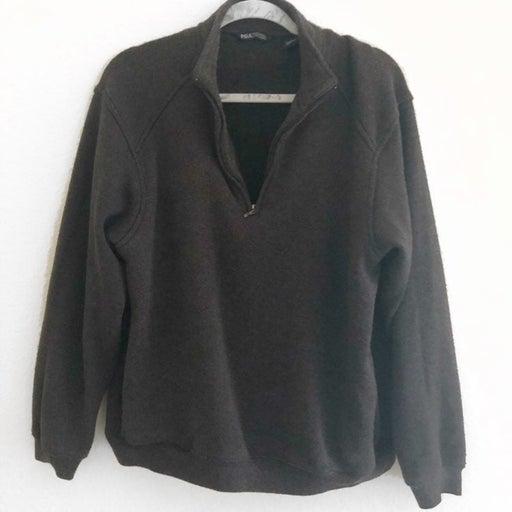 Dark Gray Zip Up Sweatshirt Unisex L