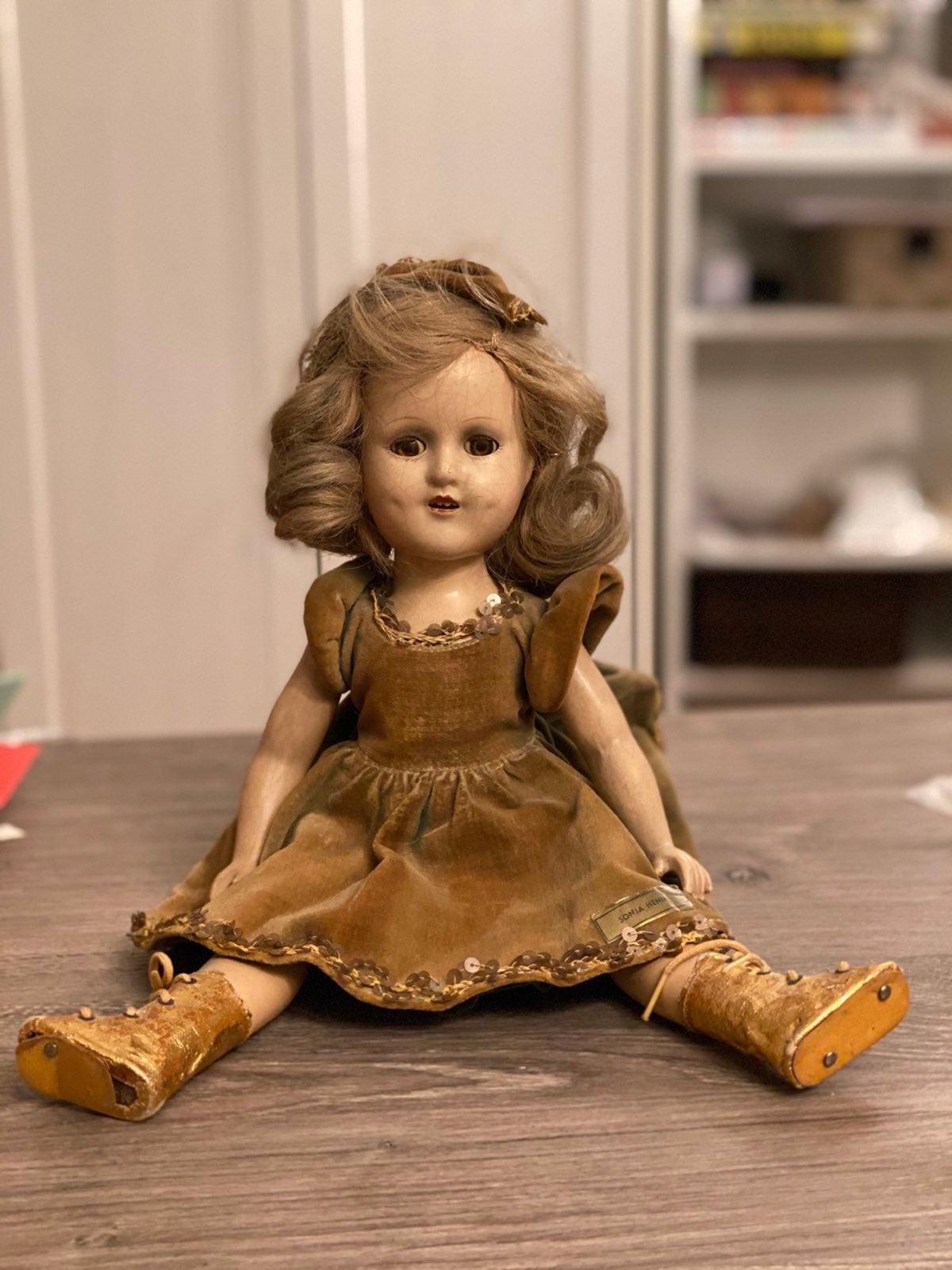 Vintage Composition Sonja Henie doll