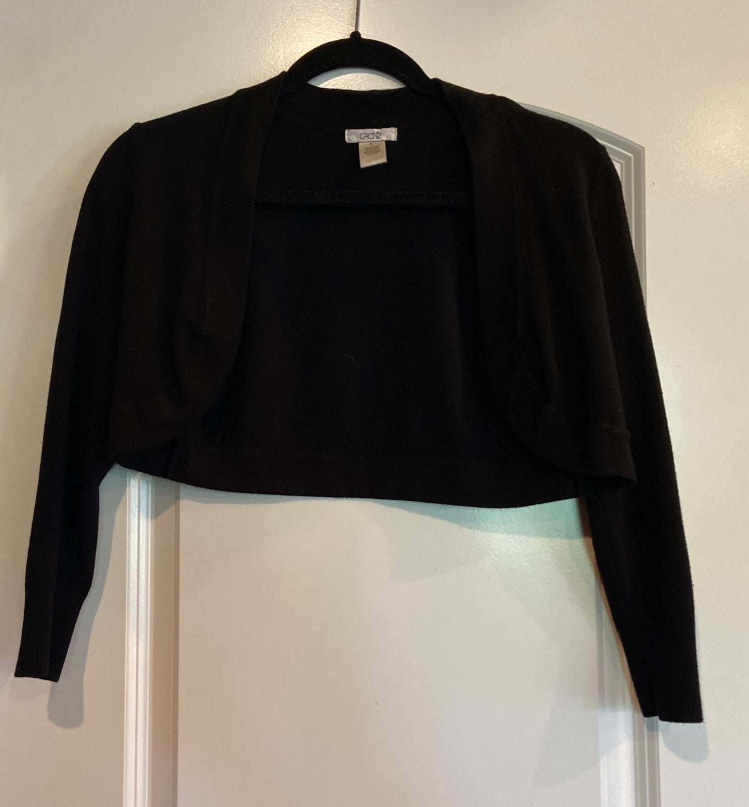 Cache black shrug sweater sz S