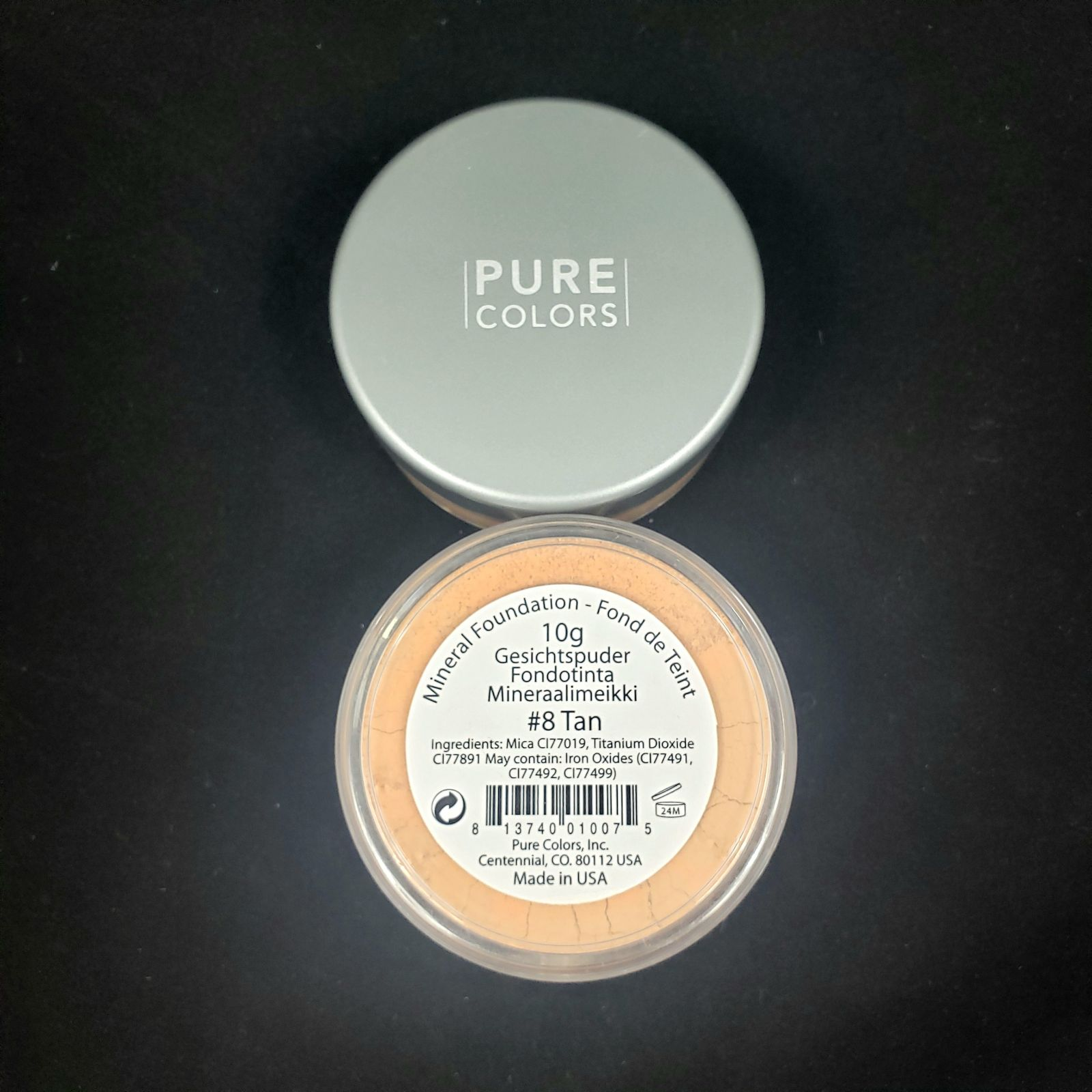 Pure Color #8 Tan Mineral Foundation