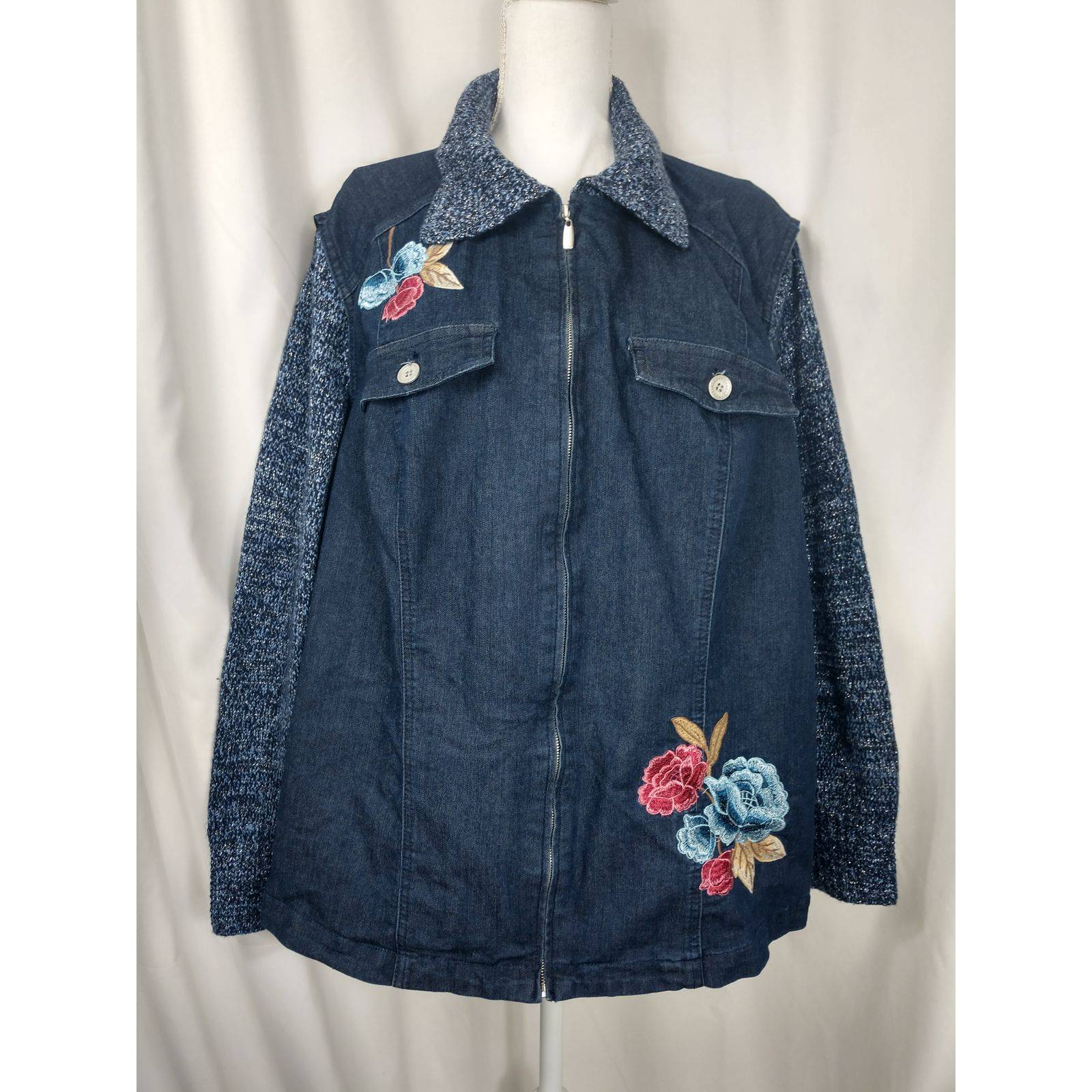 Alfred Dunner 20W jean jacket