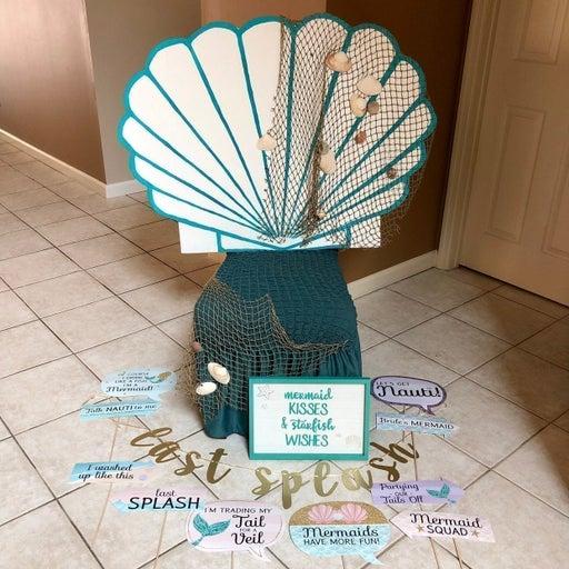 Mermaid Clamshell Chair Throne + Props
