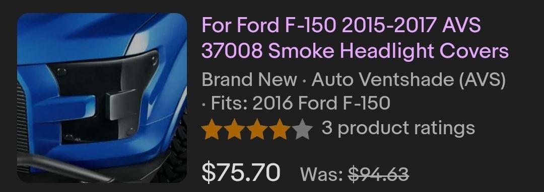 Headlight covers 2016 F150