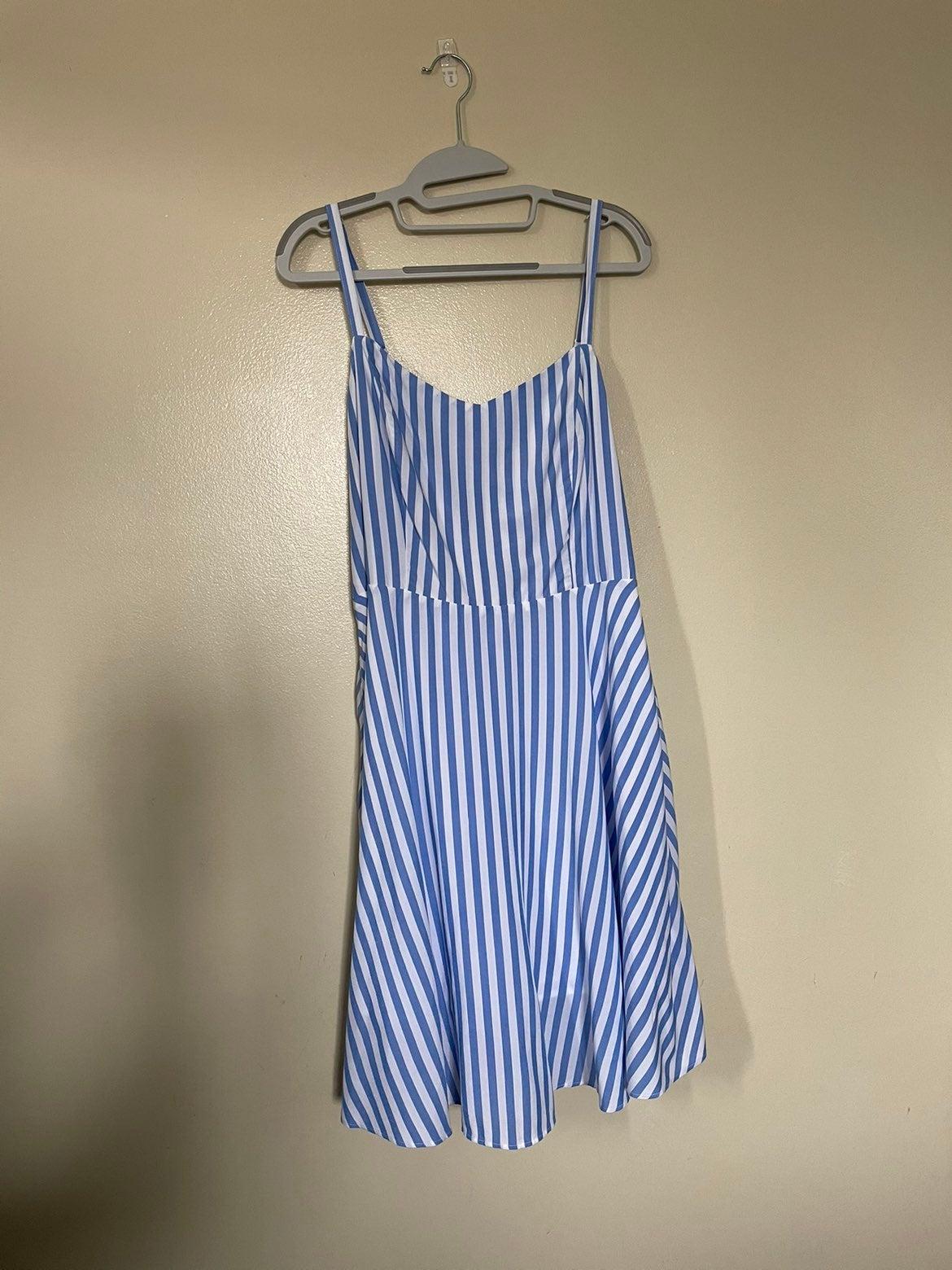 Strappy v neck dress