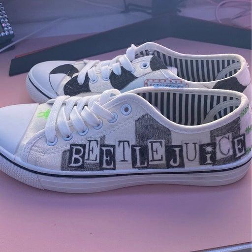 Custom Painted Beetlejuice Shoes