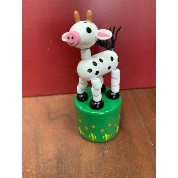 Retro Jack Rabbit Creations Wooden Goat Puppet Toy