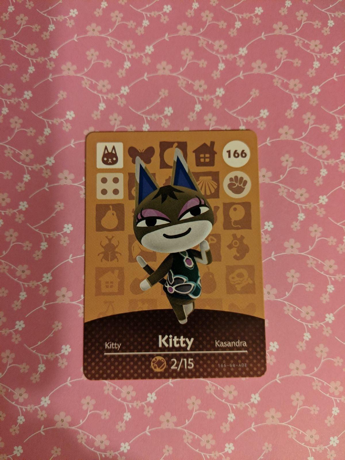 Animal Crossing Amiibo Card Kitty