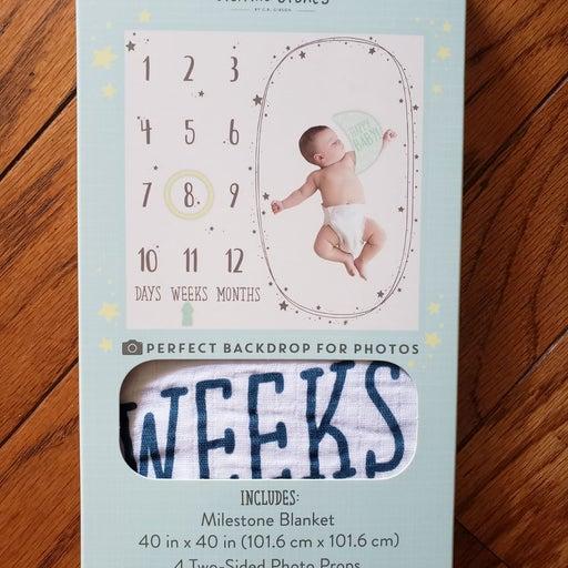 Baby Memory Blanket And milestone set