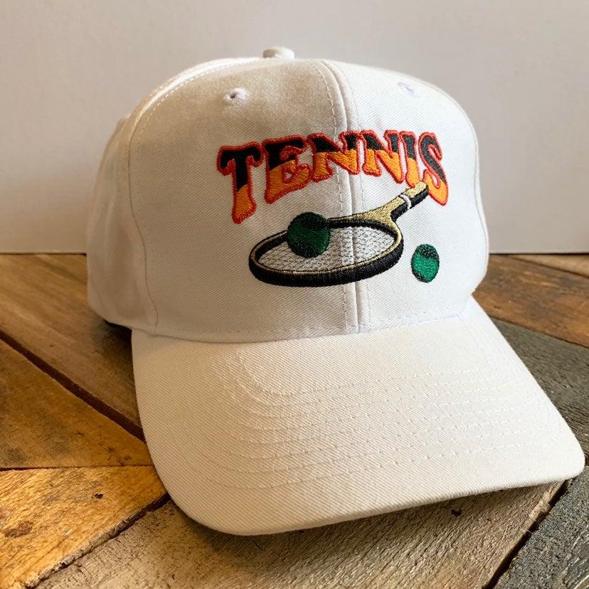 Vintage Tennis White SnapBack Hat Cap