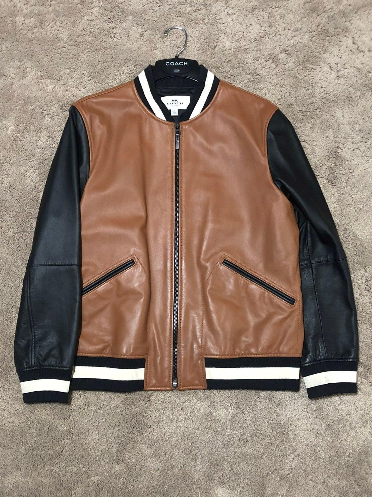 Genuine Coach Letterman Bomber Jacket