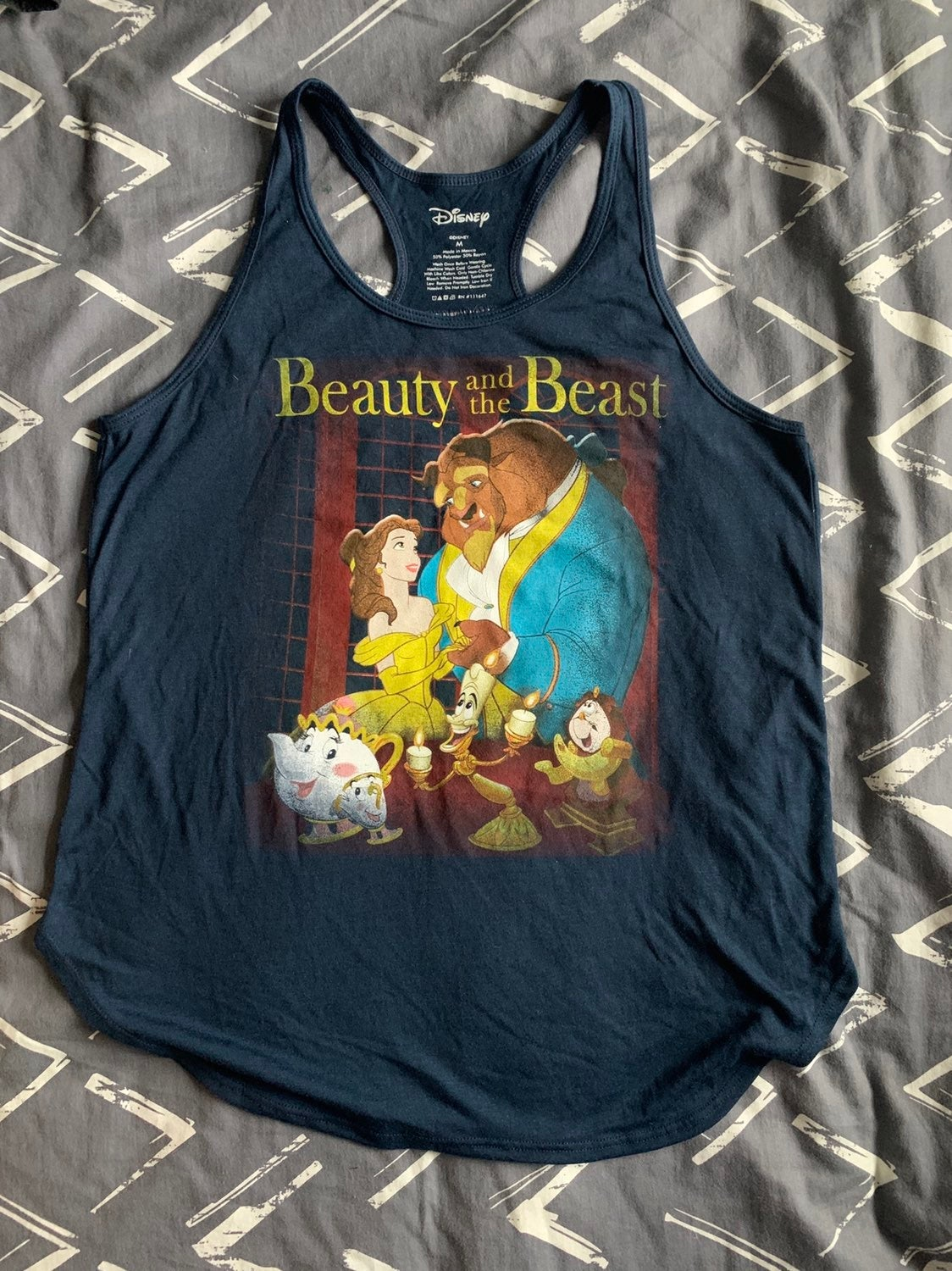 Disney Beauty and The Beast Tank size M