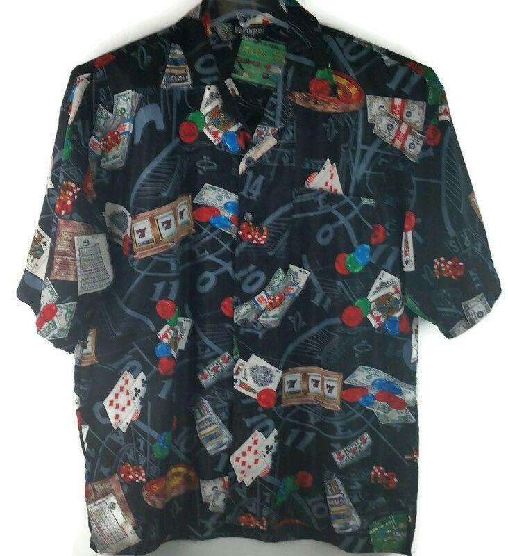 FERUGINI Men's  Shirt XL Casino Playing