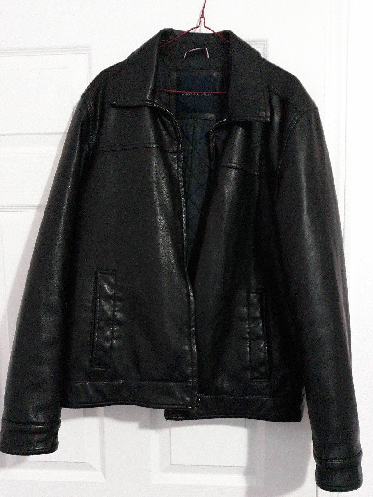 Black Tommy Hilfiger leather jacket
