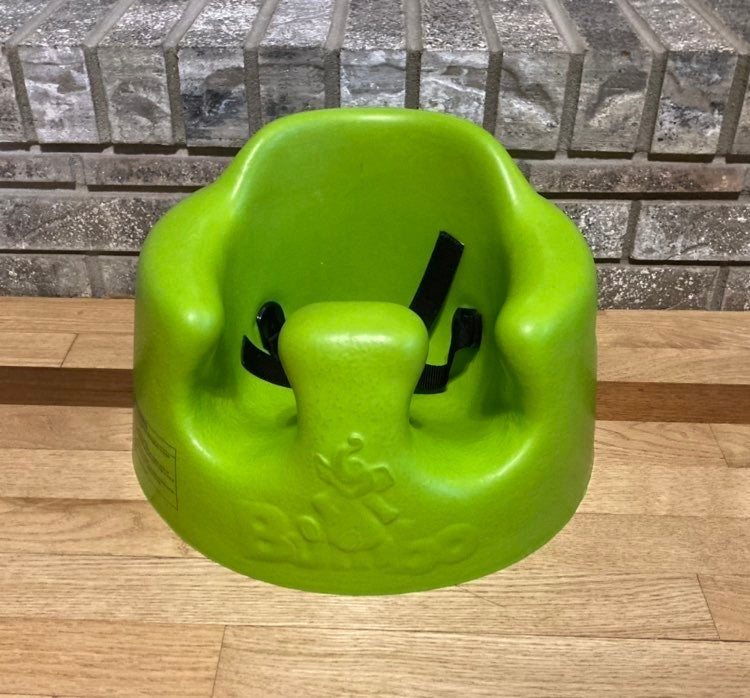 Green Bumbo Baby Seat Buckle Foam Chair