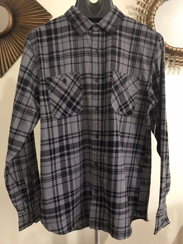 Levi's mens flannel l/s shirt small