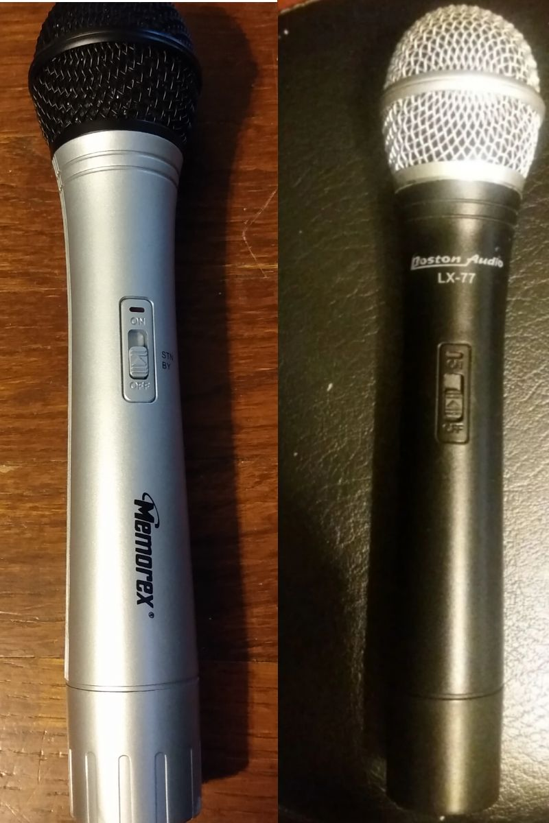 2 Wireless Microphones Karaoke vocals
