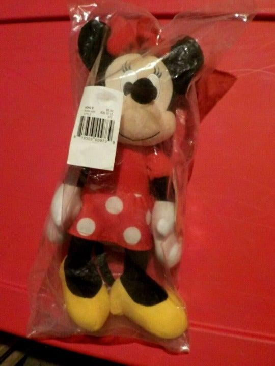 """NEW90th Anniv,Minnie Mouse Plush,12"""""""