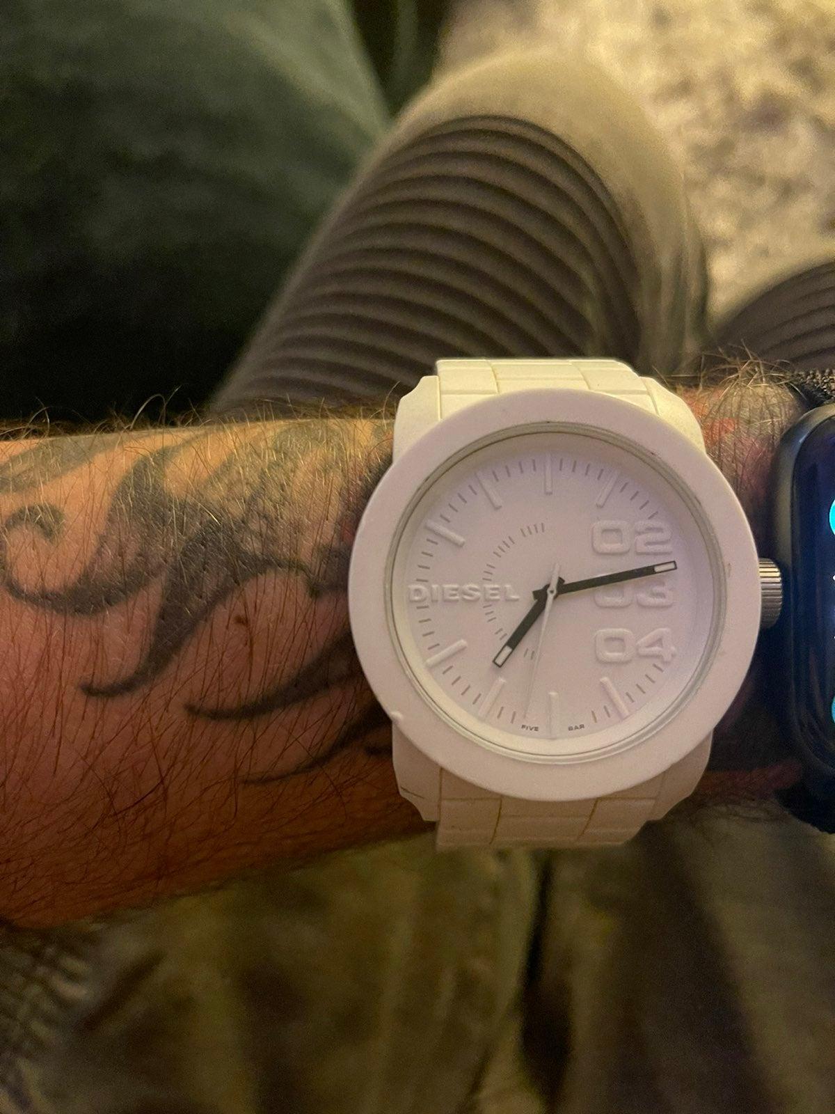 White diesel watch