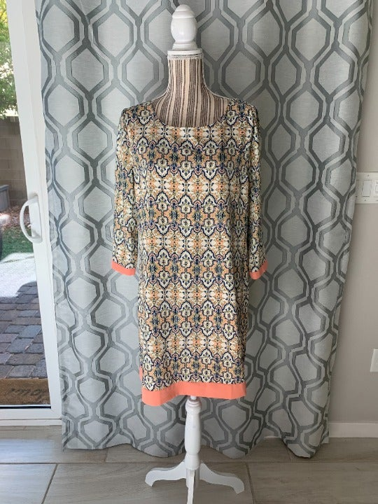Pink Owl Patterned Long Sleeve Dress