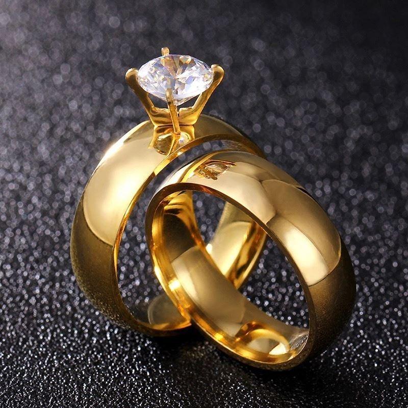 2 PIECE WEDDING RIGN SET27 SIZE 6