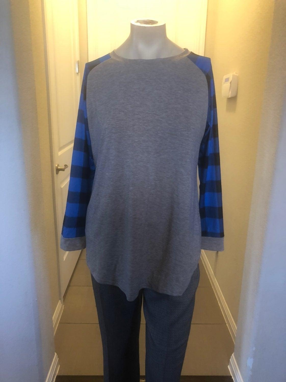 Blue buffalo plaid tunic