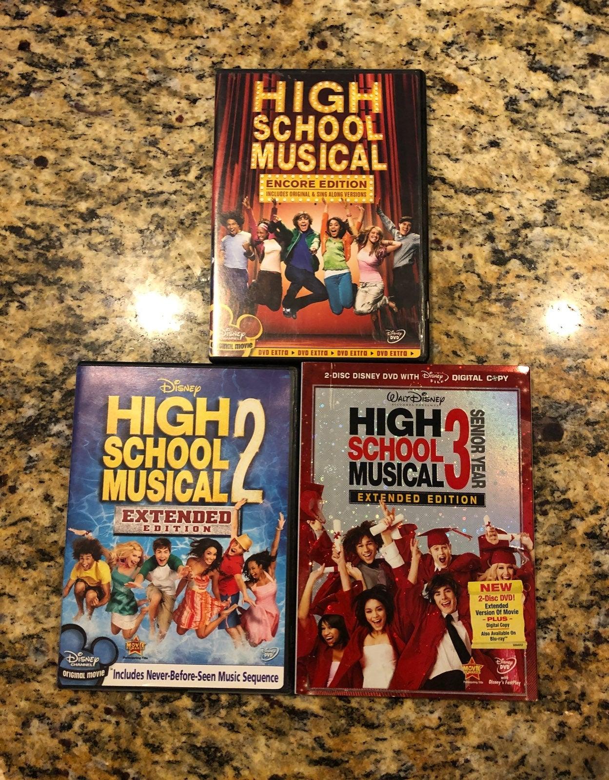 High School Musical DVD lot