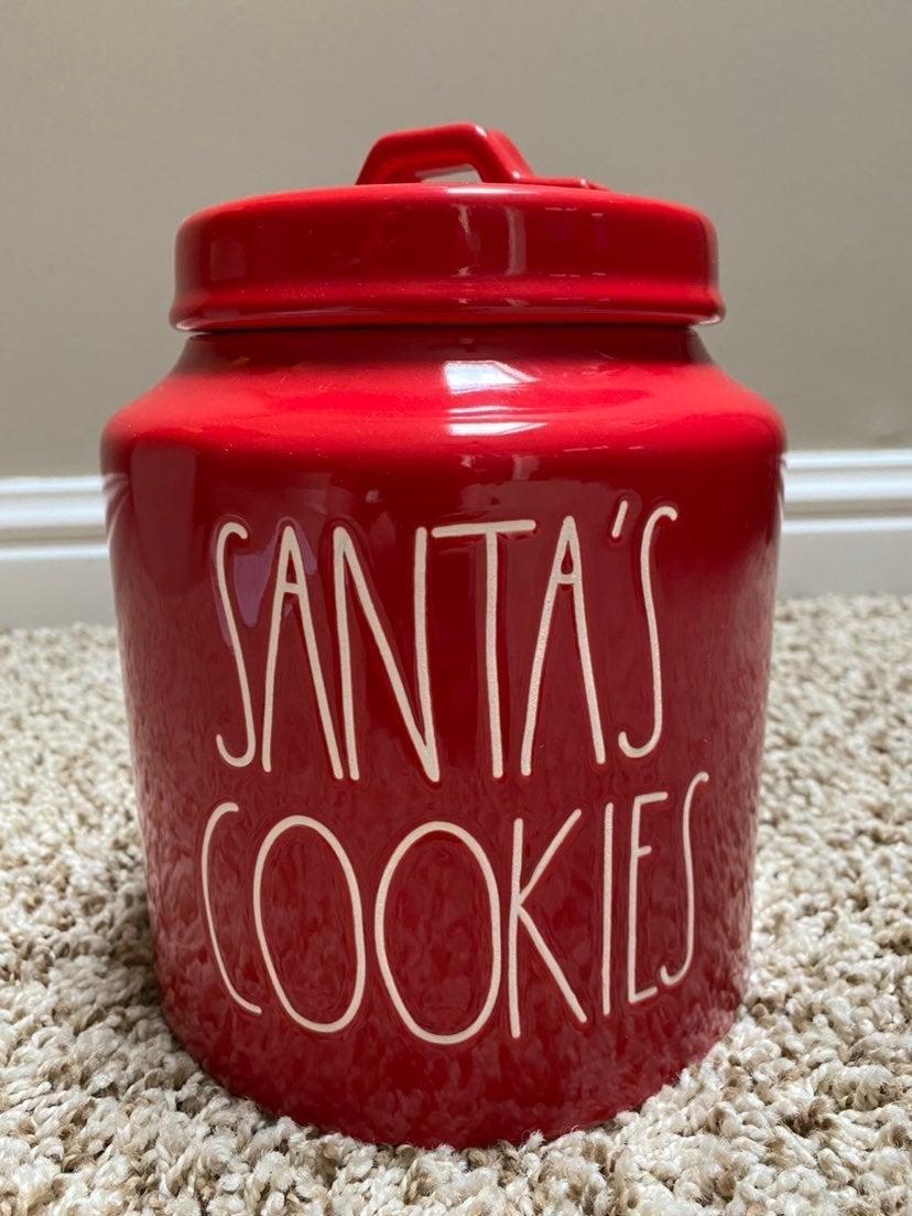 Rae Dunn Santa's Cookies Canister