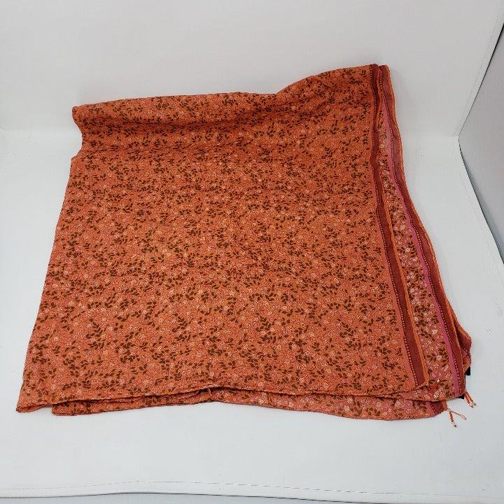 Abercrombie & Fitch Large Orange Scarf