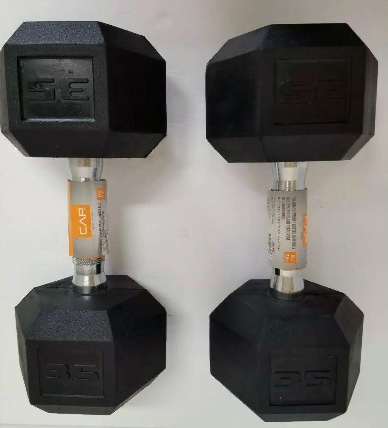 New Set of 2 CAP 35lb dumbbells - 1 Pair