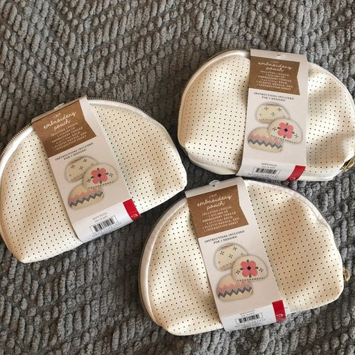 Target Embroidery Pouch