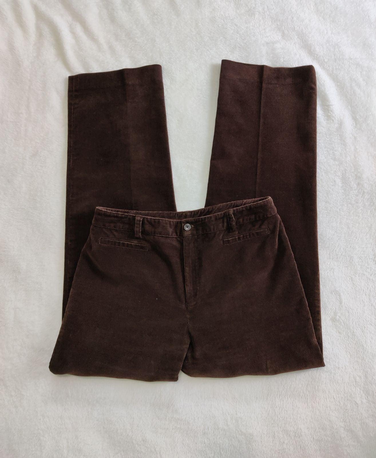 Rafaella Women's Corduroy Pants Brown 10