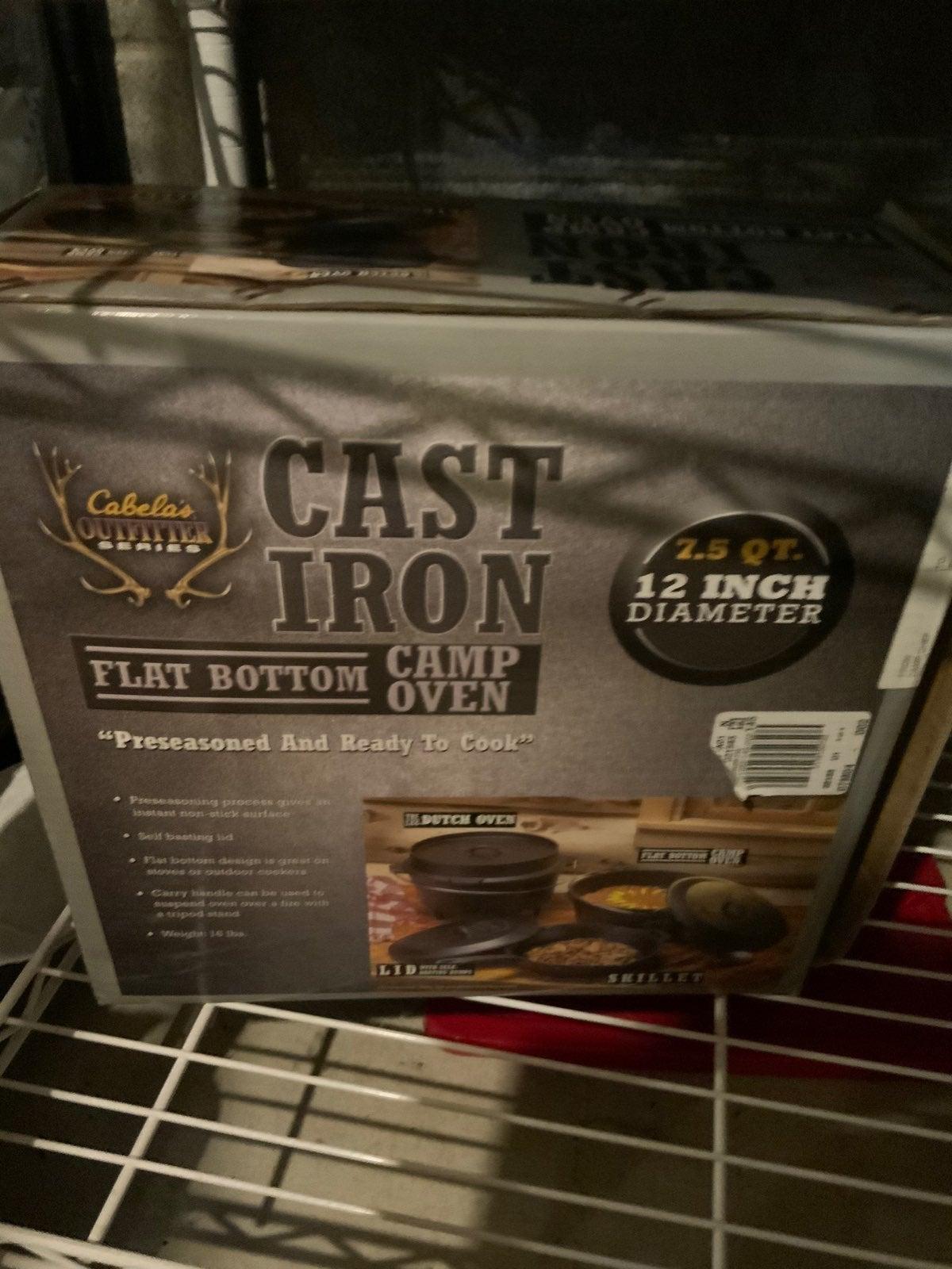 Cabelas cast iron dutch oven