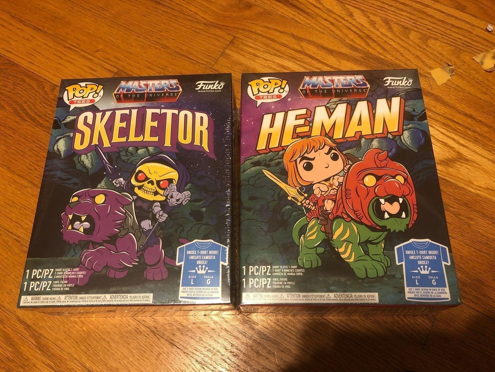 Skeletor/heman funko and tshirt