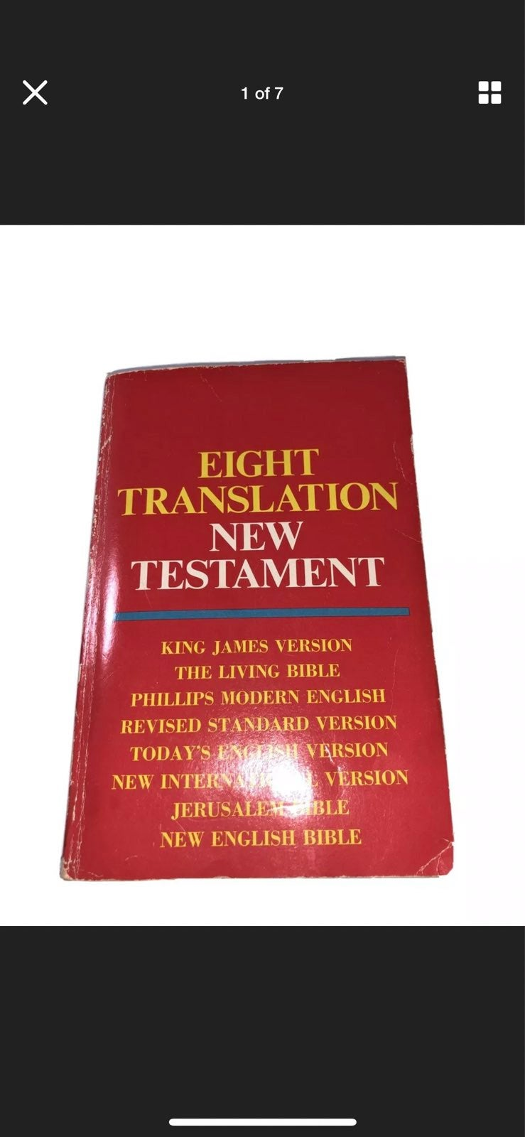 Eight Translation New Testament Tyndale