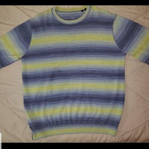 Bugatchi Mens Striped Sweater XL