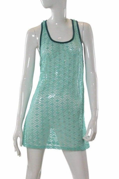 XL Miken Crochet Racerback Swim Cover Up