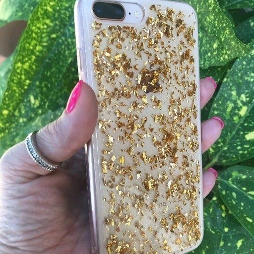 NEW Gold Glitter Bling Case iPhone 7P/8P