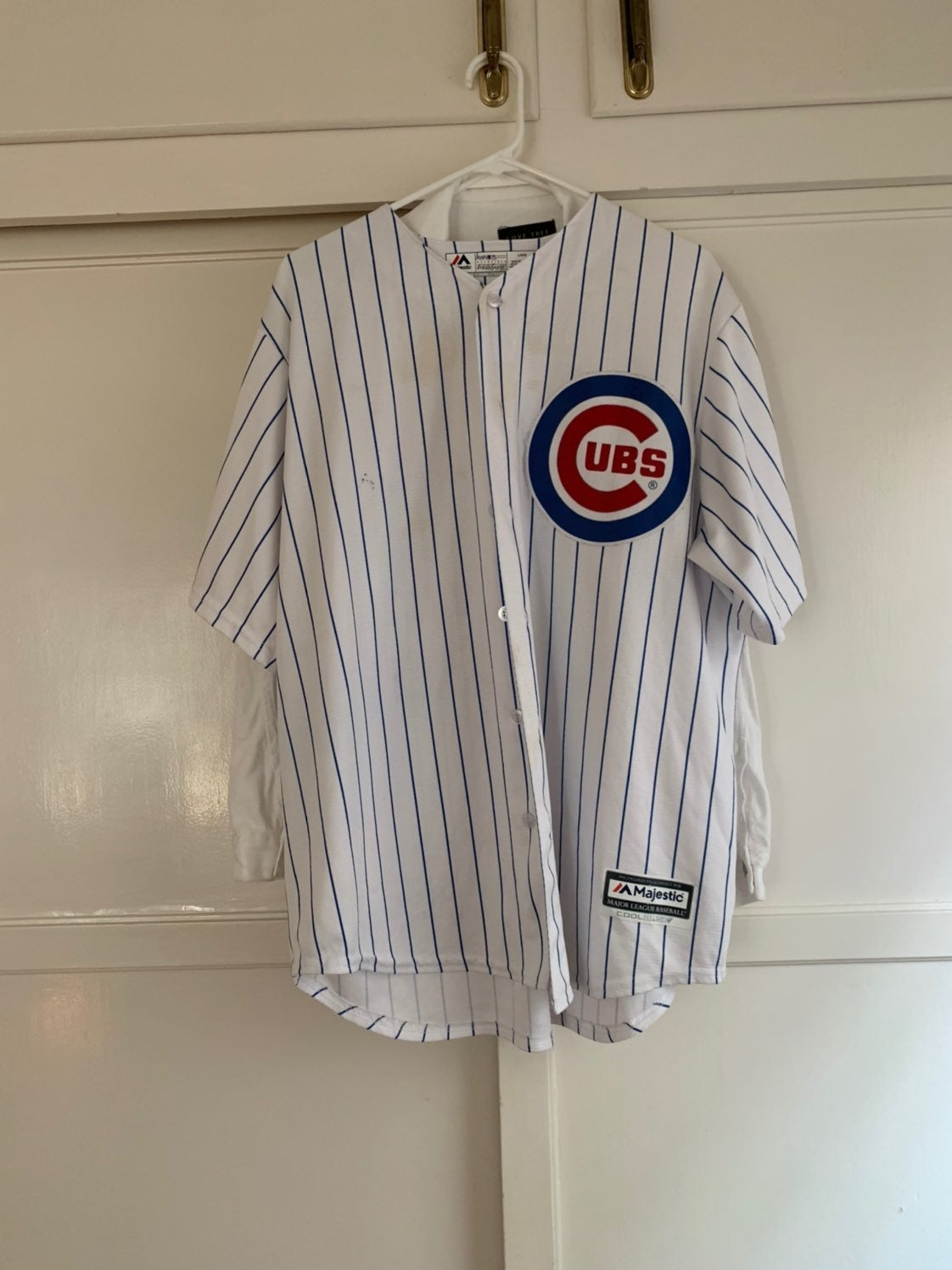 Official Cub jersey has stains