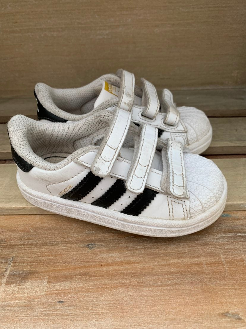 Adidas white toddler sneakers size 6
