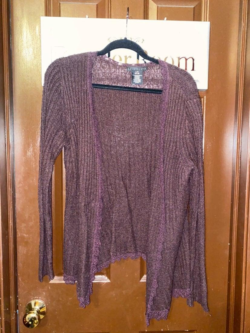 purple duster Apostrophe size L Cardigan