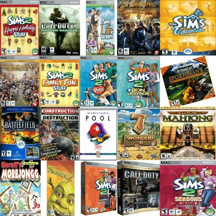 Custom Variety Bundle 600 Games Mac PC